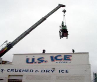 hoisting cranes lifting for US ICE